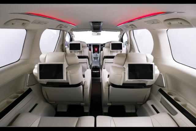 2009 Toyota Alphard Interior Rear View